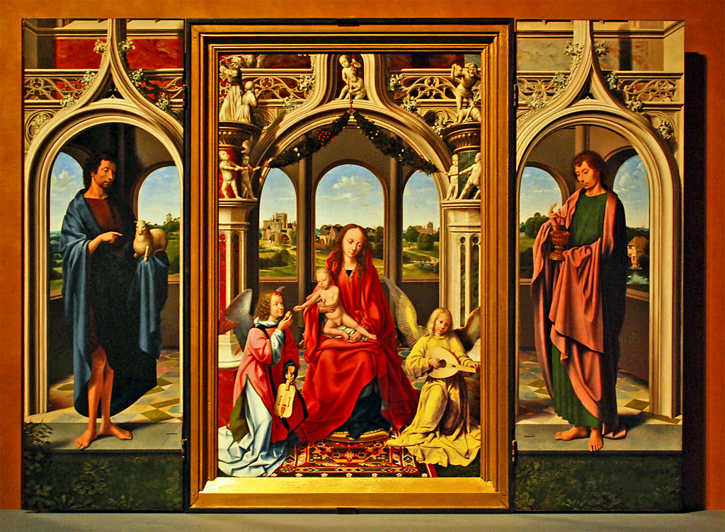 Oil on wood Triptych - Toledo Museum of Art by sjb4photos
