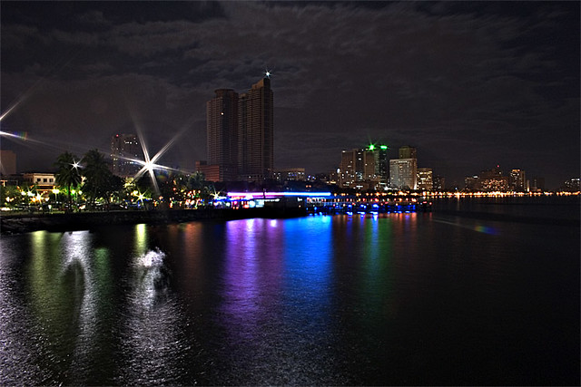 Manila Bay by night