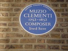 Photo of Muzio Clementi blue plaque