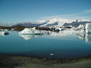 The lake at Vatnajökull, Iceland