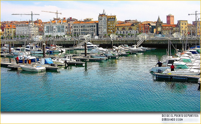 Desde el puerto deportivo gij n flickr photo sharing - Puerto deportivo gijon ...