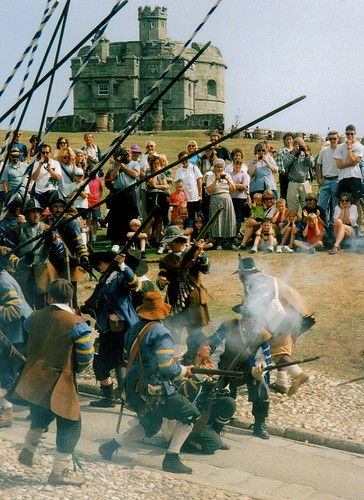 Civil War reenactment, Pendennis Castle by Stocker Images