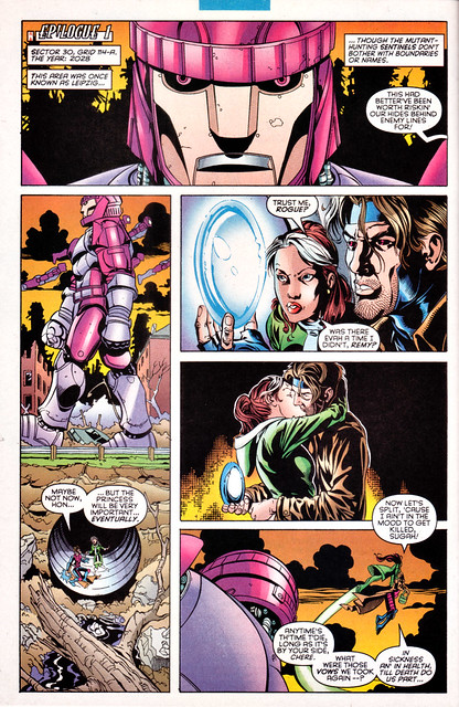 gambit and rogue kiss-#3