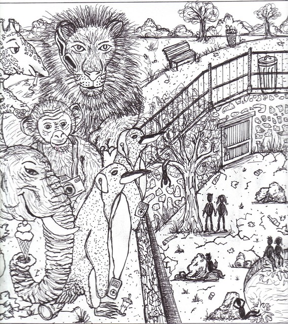 Zoo Line Art : Line drawing people zoo flickr photo sharing