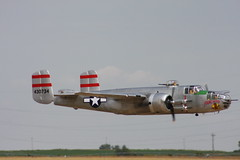 aviation, military aircraft, airplane, propeller driven aircraft, vehicle, north american b-25 mitchell, bomber, air force, air show,