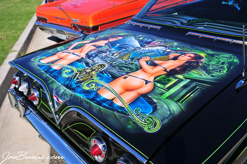 Murals on pinterest for Airbrush car mural