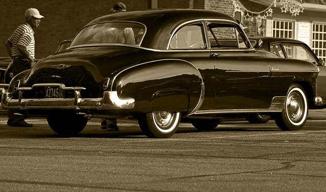 1949 chevy deluxe 2 door sedan rear 3qrtr flickr photo for 1949 chevy 4 door deluxe