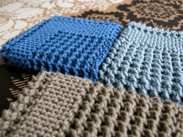 Knitting Pattern Dishcloth Knitted Diagonal : Diagonal Knit Dishcloth by Jana Trent Pattern source ...