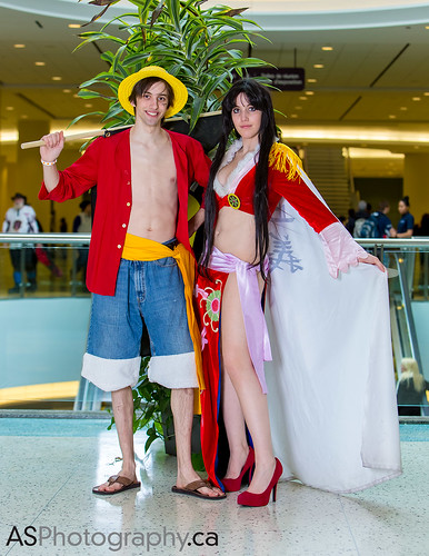 Luffy and Boa from One Piece by Bamzy Cosplay at March Toronto Comic Con 2014 by andreas_schneider