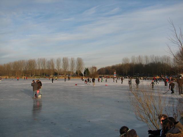 ijs op het Weerwater, 11 jan. 2009