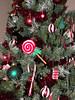 felt ornaments on tree