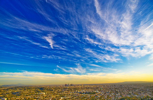 california city blue sunset weather la losangeles downtown cityscape bluesky observatory 5d griffith citylandscape canondslr hmb lightroom whiteclouds losangelesca goodweather canoneos5d supershot mondayblues anawesomeshot mondaymorningblues happymondayblue hdpixel