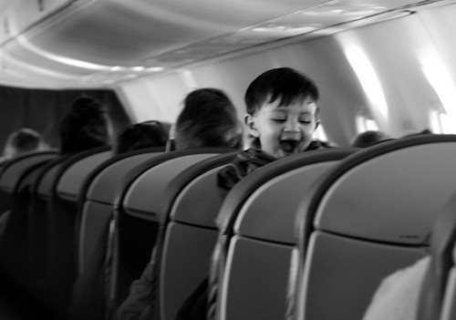 Children on a plane.....