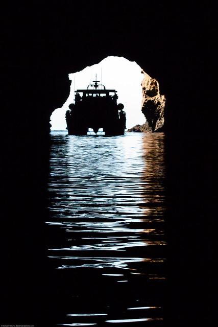 Painted Cave on Santa Cruz Island - largest sea cave in ...