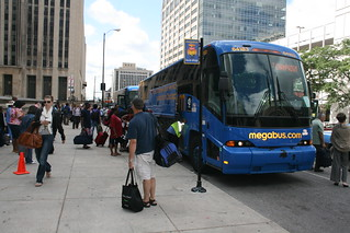 Bus WiFi Megabus Stop in Chicago