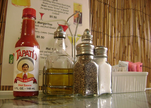 Tapatío at a Cuban restaurant