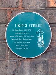 Photo of John Turner green plaque