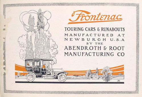 Frontenac Touring cars & Runabouts manufactured at Newburgh ...