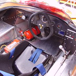Racing automobile cockpit