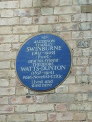 Photo of Algernon Charles Swinburne and Theodore Watts-Dunton blue plaque