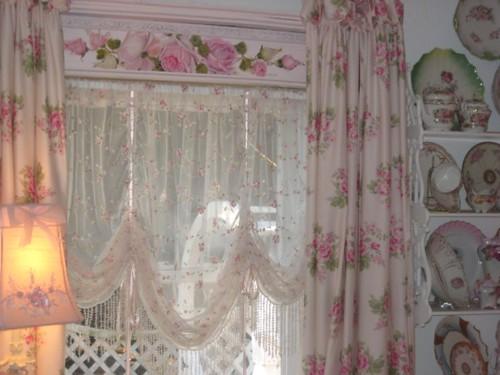 Pink Rose Roman Curtains   Flickr - Photo Sharing!