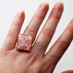 Paper Ring 9 Photos | Recycled Scrabble Ring | 441