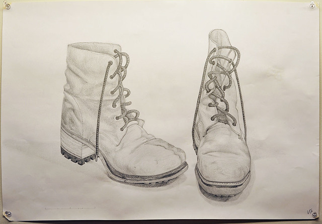 those boots are made for walkin pencil drawing flickr