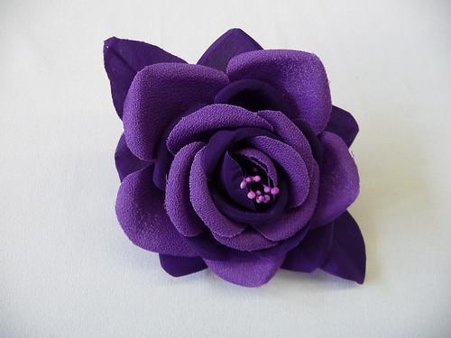 Flickriver - Flores de telas hechas a mano ...