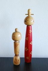 Unexpected friends make these vintage sousaku kokeshi ladies