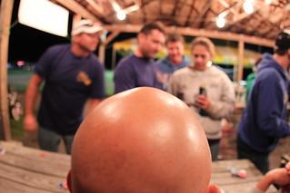 Top of the bald head