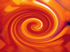 orange, spiral, fractal art, yellow, red, amber, macro photography, vortex,