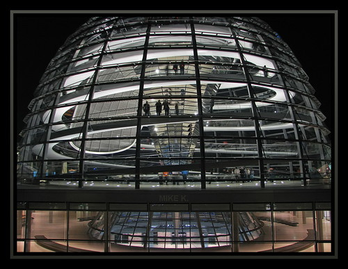 The dance hall on top of the Reichstag, Berlin