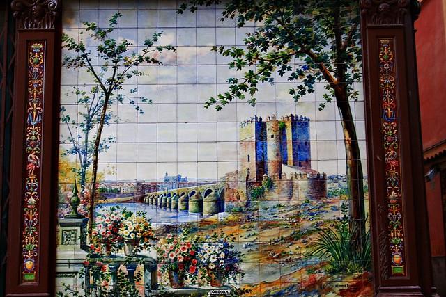 Azulejo de c rdoba de alfonso romero villa rosa 1919 for Azulejos cordoba