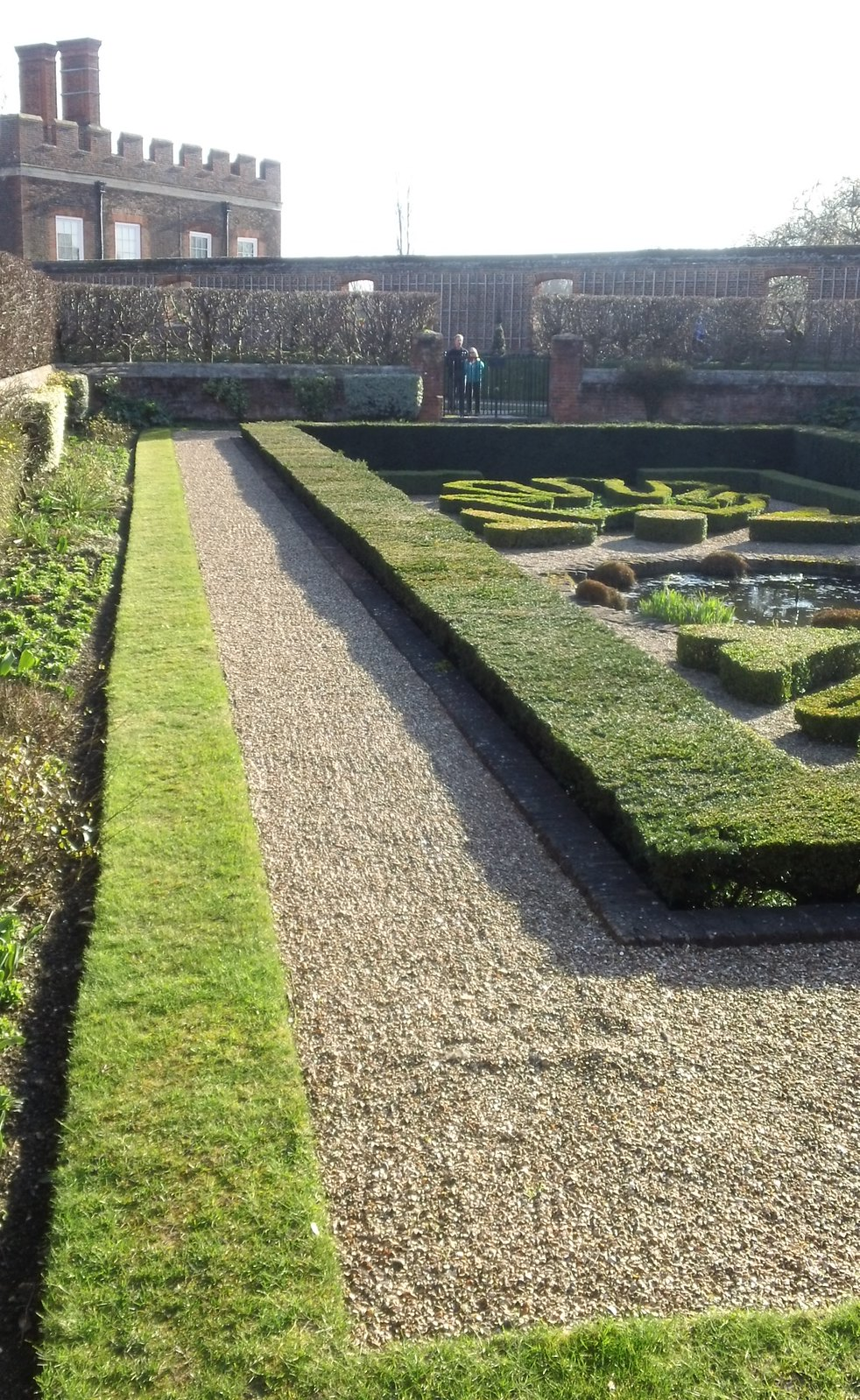 Geometric gardens Hampton Court