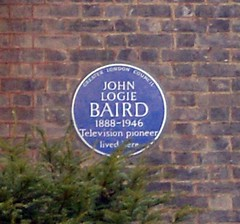 Photo of John Logie Baird blue plaque