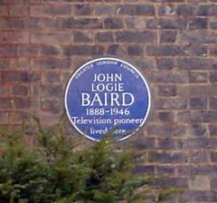 Photo of John Logie Baird blue plaque