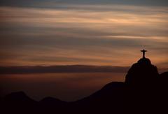 Silhouette of Christ Redeemer