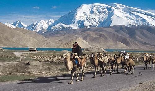 Karakul Lake Map Karakul Lake And Muztagh Ata