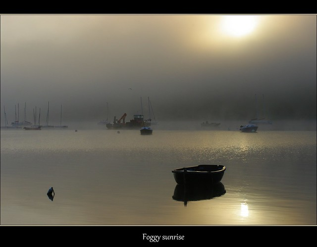 Logonna-Daoulas, la brume se lève sur Moulin-Mer.