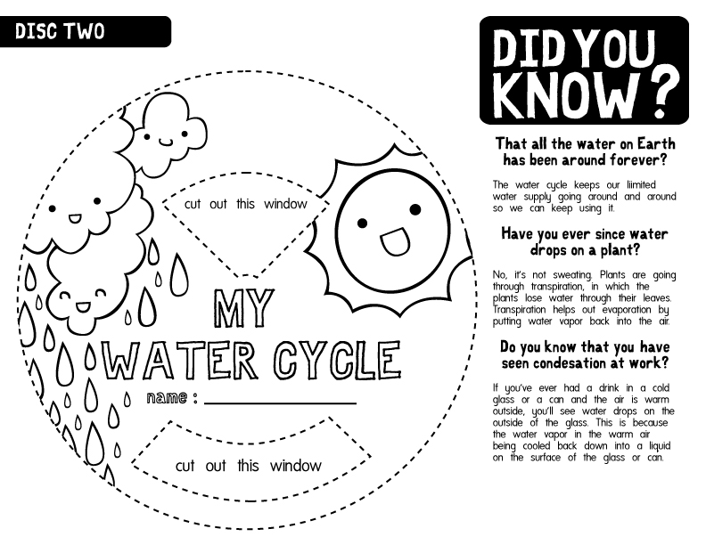 water cycle worksheet b w 2 a photo on flickriver. Black Bedroom Furniture Sets. Home Design Ideas