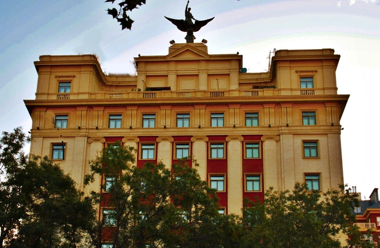 Hotel gran meli f nix paseo de la castellana madrid a for Gran melia hotel