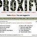 Logged into Proxify® anonymous proxy - surf the Web privately and securely
