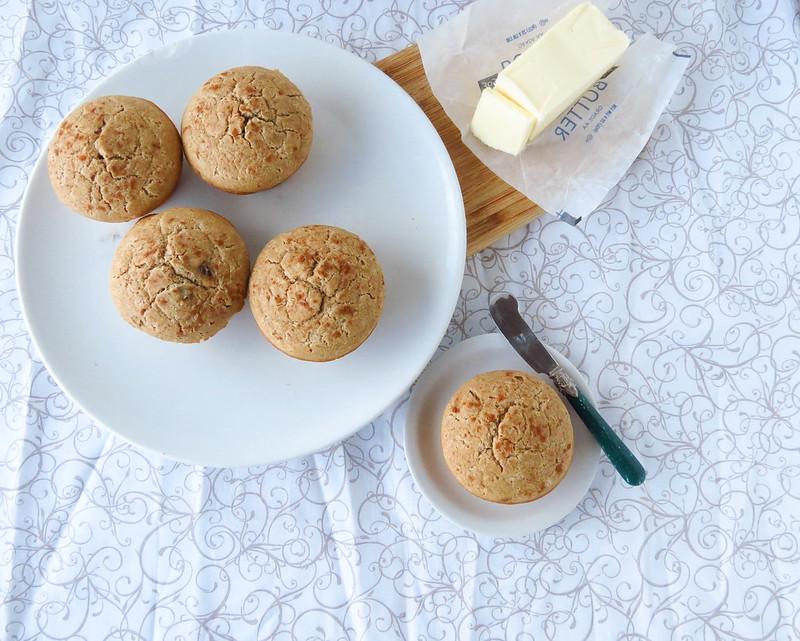 Gluten-Free Multigrain Cinnamon-Raisin Muffins