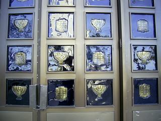 Menorah on a Synagogue Door