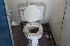 wheel(0.0), urinal(0.0), bidet(0.0), sink(0.0), floor(1.0), toilet(1.0), room(1.0), plumbing fixture(1.0), toilet seat(1.0),