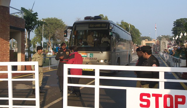 The Friendship Bus Delhi-Lahore at the Pakistan-India border.