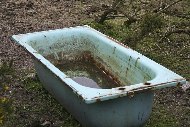 Trough Bathtub : Water+Trough+Bathtub Treskillard bath tub water trough. Flickr ...