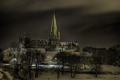 Nidaros Cathedral at night