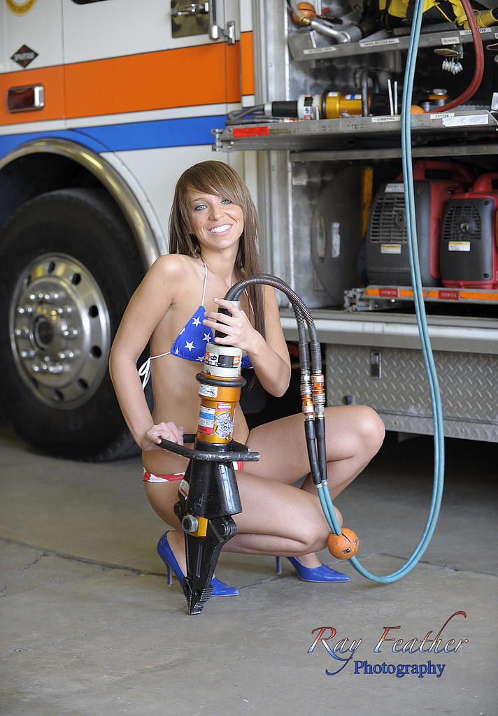 Naked girl fire truck rather