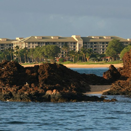The cove area just behind Black Rock in Ka'anapali.